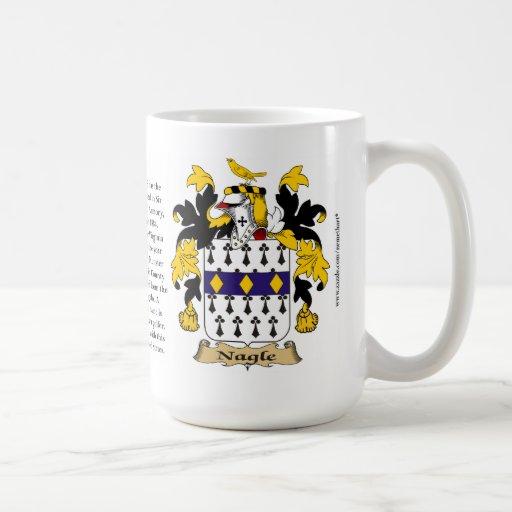 Nagle, el origen, el significado y el escudo tazas de café