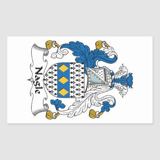 Nagle Family Crest Rectangular Sticker