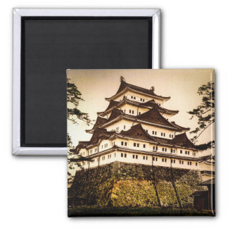 Nagoya Castle in Ancient Japan Vintage 名古屋城 Magnet