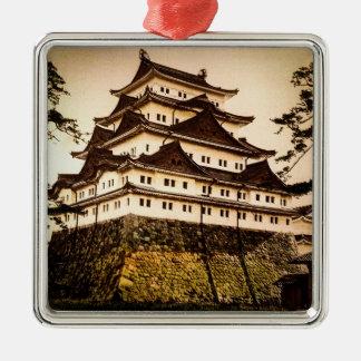 Nagoya Castle in Ancient Japan Vintage 名古屋城 Metal Ornament