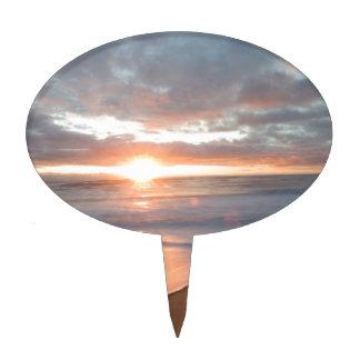 nags head beach sunrise cake topper