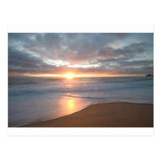 nags head beach sunrise postcard