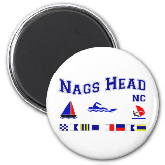 Nags Head NC Signal Flags 2 Inch Round Magnet