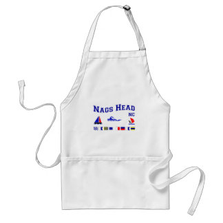 Nags Head NC Signal Flags Adult Apron