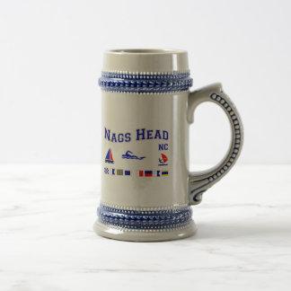 Nags Head NC Signal Flags Beer Stein