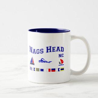 Nags Head NC Signal Flags Two-Tone Coffee Mug
