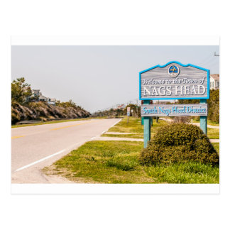 nags head north carolina town sign postcard
