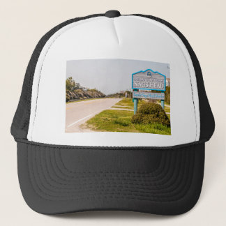 nags head north carolina town sign trucker hat
