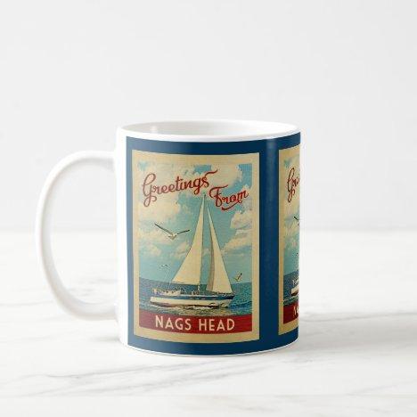 Nags Head Sailboat Vintage Travel North Carolina Coffee Mug