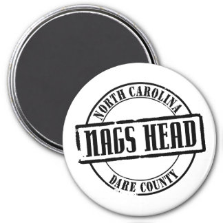 Nags Head Title 3 Inch Round Magnet