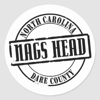 Nags Head Title Round Stickers