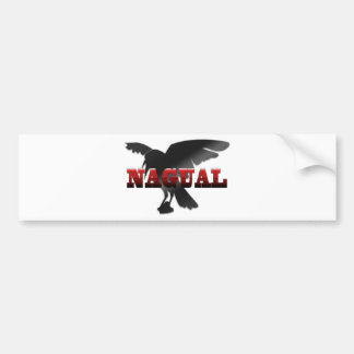 Nagual Crow Raven Bumper Sticker