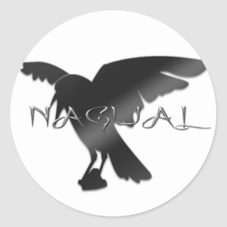 Nagual Crow Raven Stickers