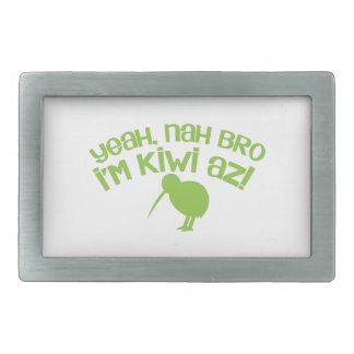 Nah Bro Bro soy sí kiwi Hebillas Cinturón Rectangulares