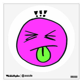 Nah Nah Emoticon Sticking Tongue Out Wall Decal