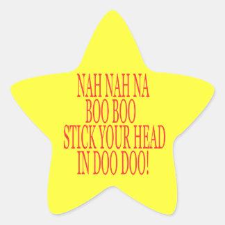 Nah Nah Star Sticker
