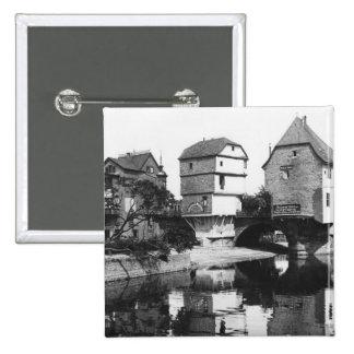 Nahe Bridge, Bad Kreuznach, c.1910 Button