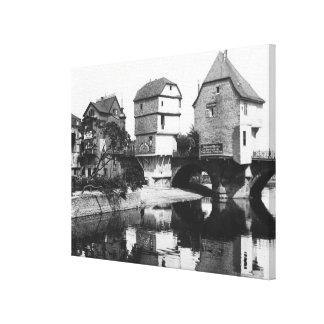 Nahe Bridge, Bad Kreuznach, c.1910 Canvas Print