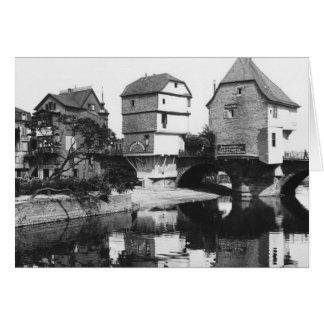 Nahe Bridge, Bad Kreuznach, c.1910 Card