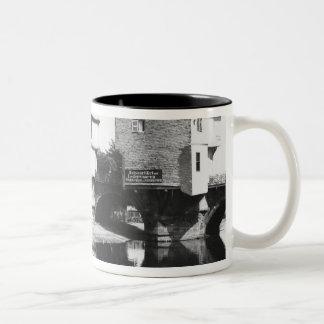 Nahe Bridge, Bad Kreuznach, c.1910 Two-Tone Coffee Mug