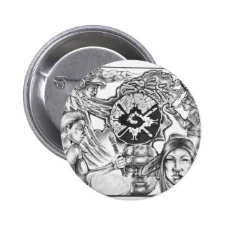 Nahual Tonal 2 Inch Round Button