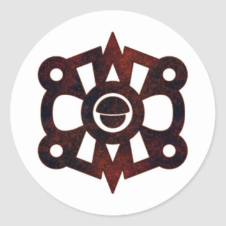 Nahui Ollin Classic Round Sticker