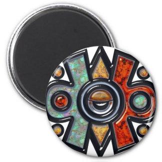 Nahui Ollin Fridge Magnet
