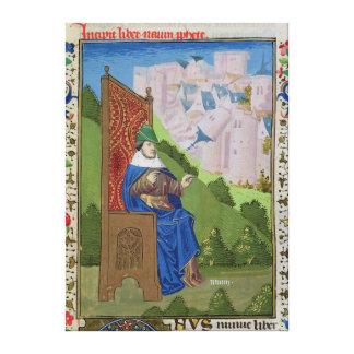 Nahum announcing the destruction of Nineveh Canvas Print