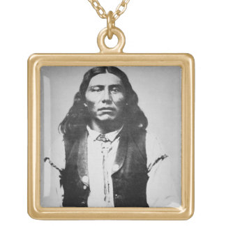 Naiche (d.1874) Chief of the Chiricahua Apaches of Gold Plated Necklace