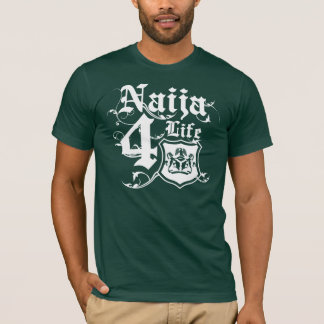 Naija4life design with Nigerian Coat of arms T-Shirt