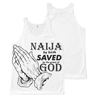 Naija by birth All-Over-Print tank top