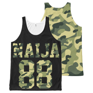 Naija camouflage designs All-Over-Print tank top