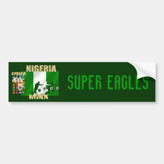 Naija flag of Nigeria soccer stars gifts Bumper Sticker