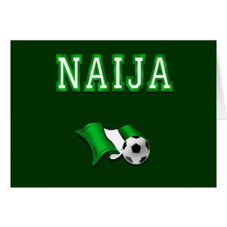 Naija flag of Nigeria soccer stars gifts Card