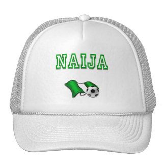 Naija flag of Nigeria soccer stars gifts Trucker Hat
