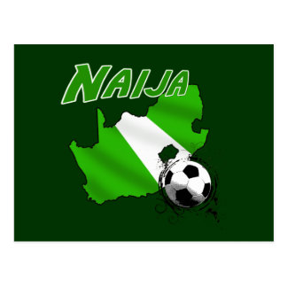 Naija South Africa goes Nigerian soccer map Postcard