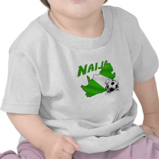 Naija South Africa goes Nigerian soccer map T Shirt