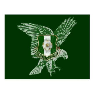 Naija Super Eagle football emblem Postcard