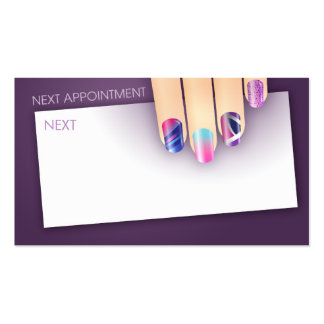 Nail Art Appointment Business Card