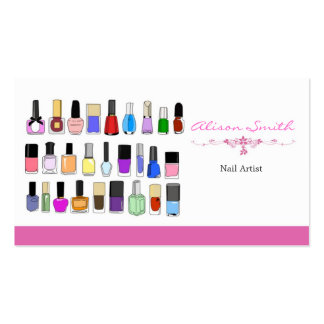 Nail artist Double-Sided standard business cards (Pack of 100)