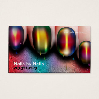 Nail art business cards templates zazzle nail artist business card prinsesfo Images