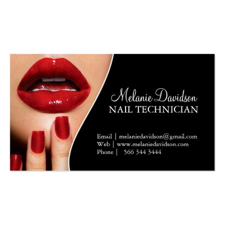 Beauty business cards business cards galore hot red nails and lips beauty salon business cards cheaphphosting Image collections