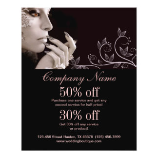 nail artist business personalized flyer flyers