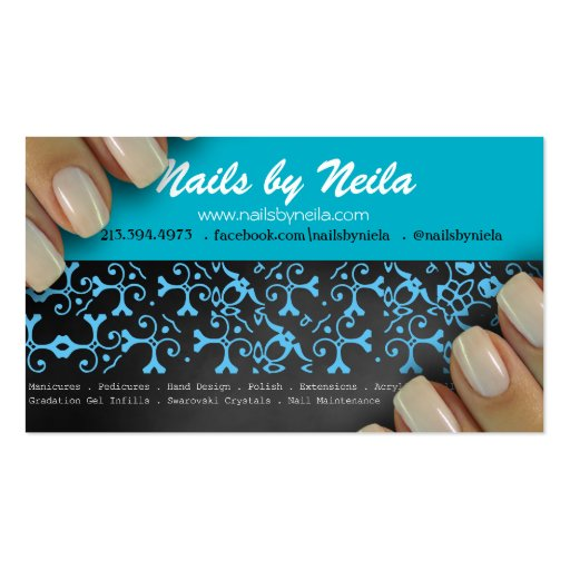Nail Artist Cosmetologist Business Card