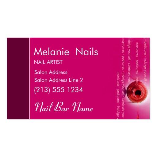Nail Bar Business Card