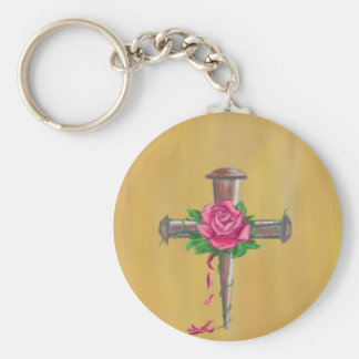 Nail Cross Keychain