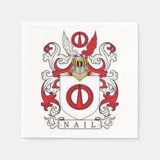 Nail Family Crest Paper Napkins