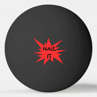 NAIL IT! Funny Black and Red Ping Pong Ball
