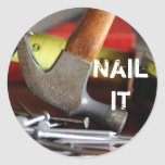 Nail it round stickers