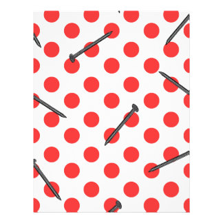 nail pattern with dots flyer
